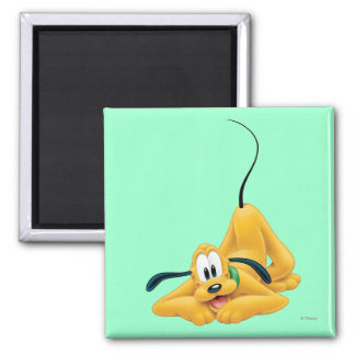 Pluto Laying Down 1 2 Inch Square Magnet