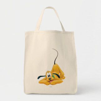Pluto Laying Down 1 Grocery Tote Bag