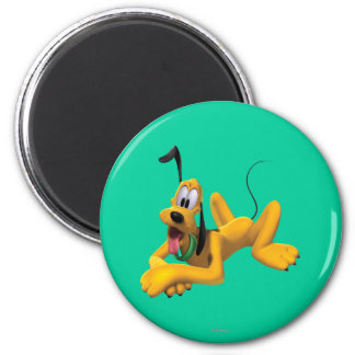 Pluto Laying Down 2 2 Inch Round Magnet