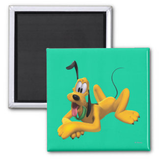 Pluto Laying Down 2 2 Inch Square Magnet