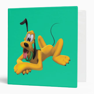 Pluto | Laying with Ear Up 3 Ring Binder