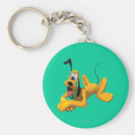 Pluto | Laying with Ear Up Keychain
