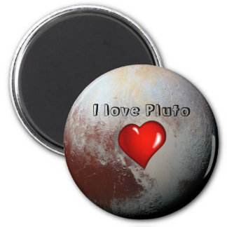Pluto lovers 2 inch round magnet