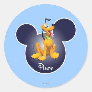 Pluto | Mickey Head Icon Classic Round Sticker