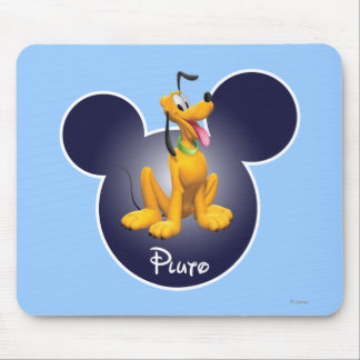 Pluto | Mickey Head Icon Mouse Pad