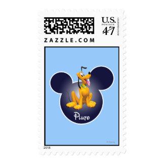 Pluto | Mickey Head Icon Postage Stamp