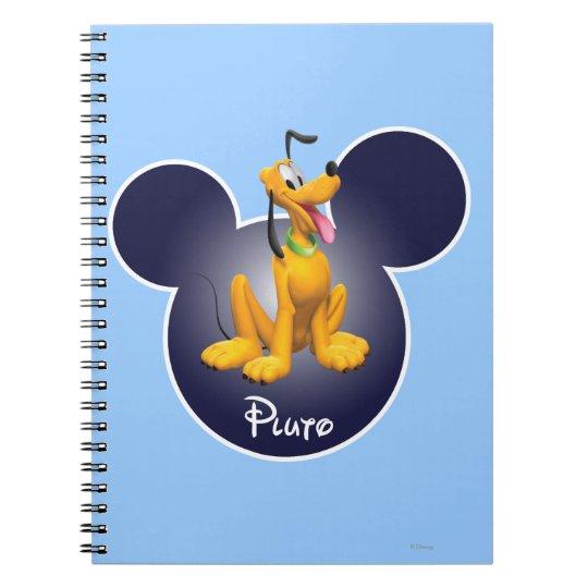 Pluto | Mickey Head Icon Spiral Notebook