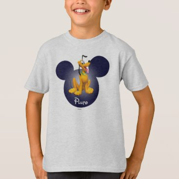 Disney Themed Pluto | Mickey Head Icon T-Shirt