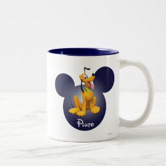 Pluto | Mickey Head Icon Two-Tone Coffee Mug