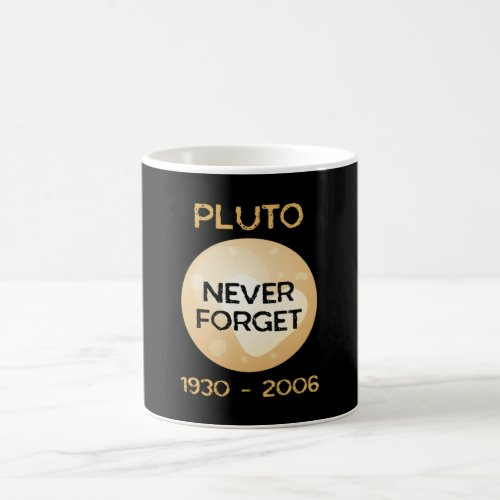 Pluto Never Forget Solar System Moon Space Coffee Mug