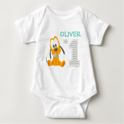 Baby Jersey Bodysuit with Pluto design