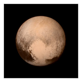 Pluto Photo Poster Print