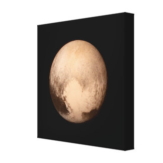 Pluto Photo Wrapped Canvas Print