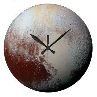 Pluto planet large clock