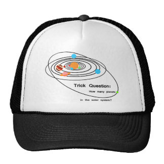 Pluto Planets Trick Question Mesh Hat