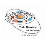 Pluto Planets Trick Question Post Card