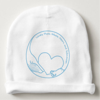 < Pluto > Pluto - Whale, Heart and Schnauzer Baby Beanie