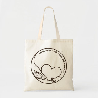 < Pluto >Pluto - Whale, Heart and Schnauzer (Brown Tote Bag