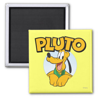 Pluto | Pup with Name 2 Inch Square Magnet