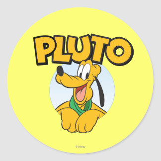 Pluto | Pup with Name Classic Round Sticker