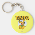 Pluto | Pup with Name Keychain