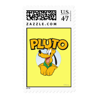 Pluto | Pup with Name Postage Stamp