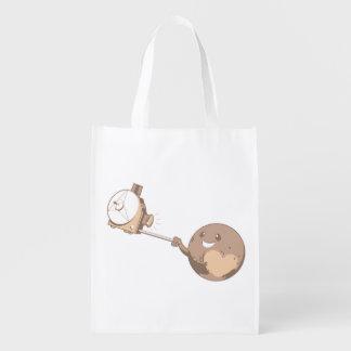 Pluto Selfie Grocery Bag