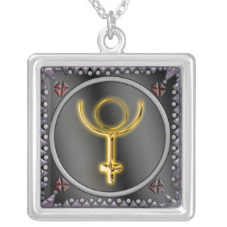 pluto sigil 1 silver plated necklace