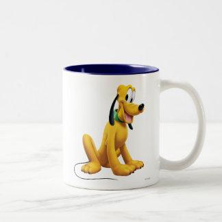 Pluto Sitting 1 Two-Tone Coffee Mug