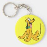 Pluto Sitting 3 Key Chain