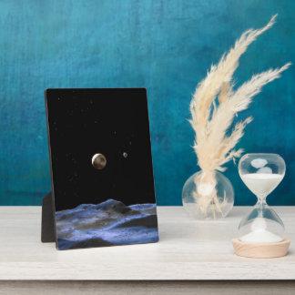 Pluto Space Art NASA Display Plaque