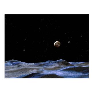 Pluto Space Art NASA Postcard
