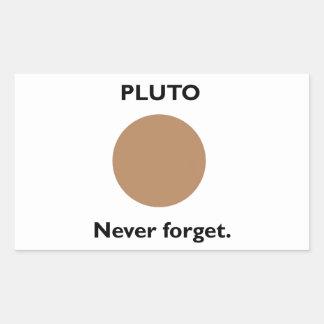 Pluto Rectangle Sticker