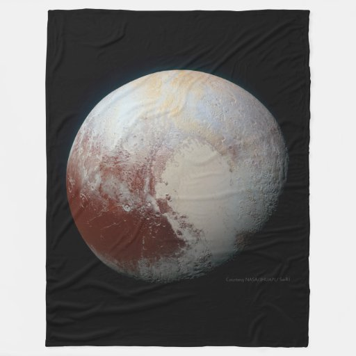 Pluto the largest dwarf planet fleece blanket zazzle for Solar system fleece