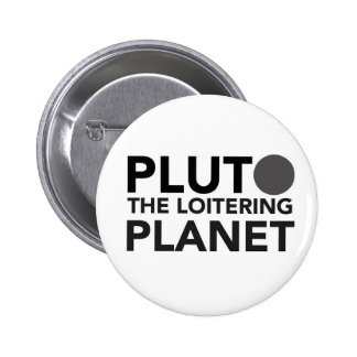 Pluto - the loitering planet button