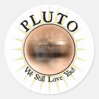 Pluto - We Still Love You Classic Round Sticker