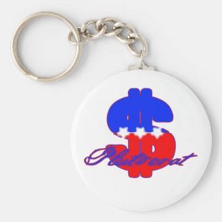 Plutocrat Basic Round Button Keychain