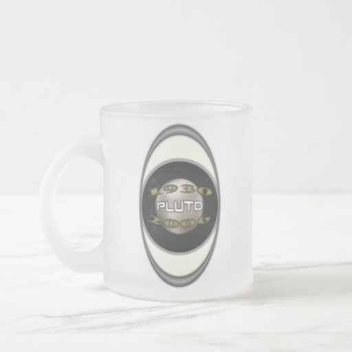 Plutón 1930-2006 conmemorativo taza de cristal