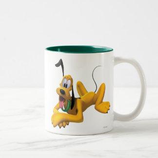 Plutón el | que pone con el oído para arriba taza de café de dos colores