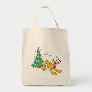 Plutón en el navidad bolsa tela para la compra