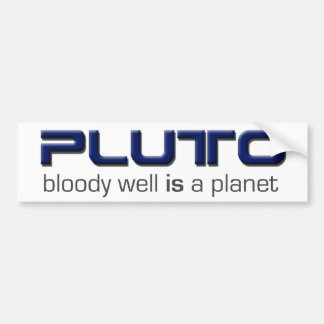 Plutón es pegatina para el parachoques del planeta pegatina de parachoque