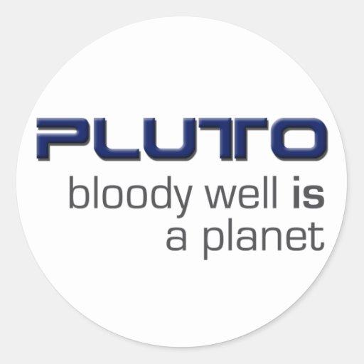 Plutón es pegatinas de un planeta pegatina redonda
