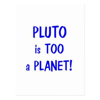Plutón es un planeta tarjeta postal