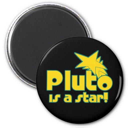 Plutón es una estrella imán redondo 5 cm