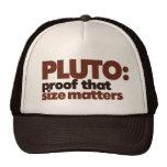 Plutón: Impermeabilice que importa el tamaño Gorras De Camionero