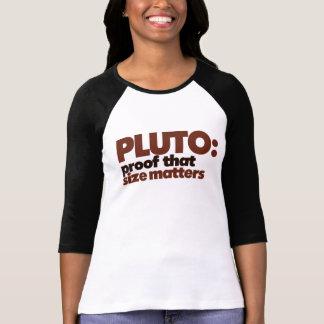 Plutón: Impermeabilice que importa el tamaño Tshirt