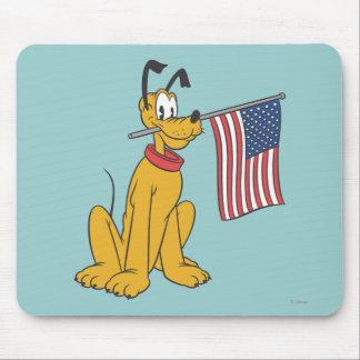 Plutón patriótico alfombrilla de ratón
