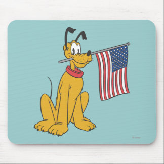 Plutón patriótico mouse pads