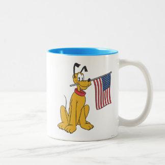 Plutón patriótico taza de dos tonos