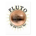 Plutón - todavía le amamos tarjetas postales